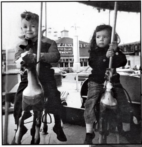 Springsteen with his sister Ginny in his future musical home of Asbury Park, 1954.
