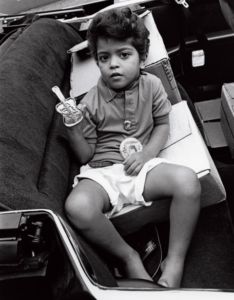 Mars, age four, when he was a performer in Hawaii: