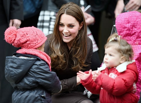 kate middleton with foster kids