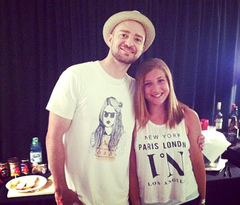 Justin Timberlake with Joey Fatone's daughter