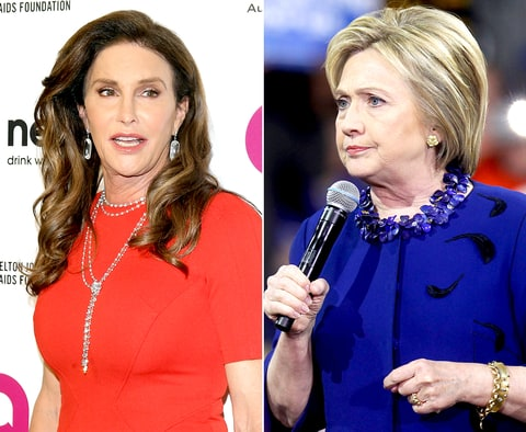 Caitlyn Jenner and Hillary Clinton