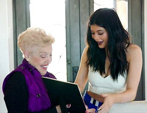kylie and grandma jenner