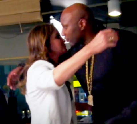 Caitlyn Jenner and Lamar Odom