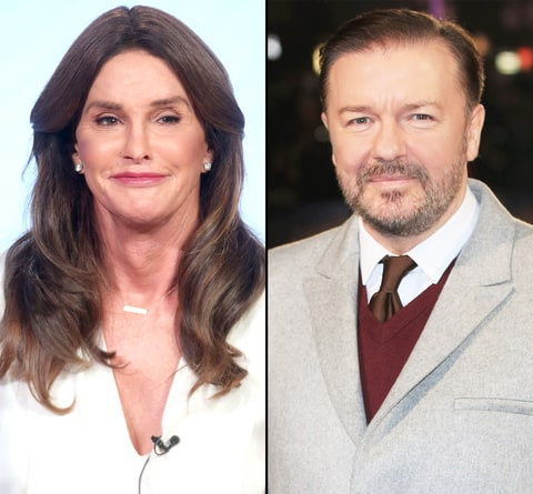 Caitlyn Jenner and Ricky Gervais