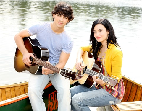 Joe Jonas and Demi Lovato in Camp Rock