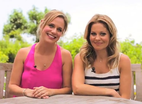 Andrea Barber and Candace Cameron US video