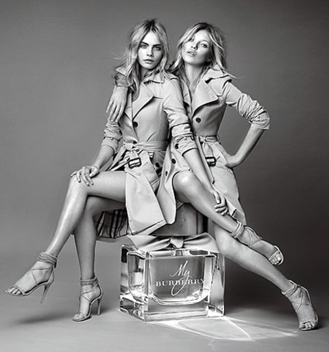 Cara Delevingne and Kate Moss - Burberry