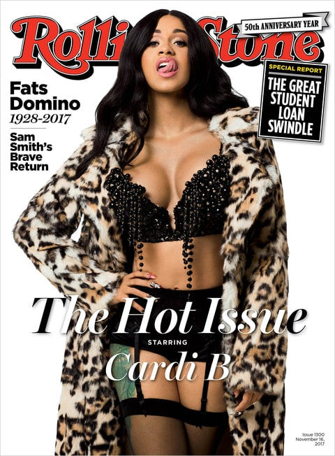 Image result for cardi b rolling stone