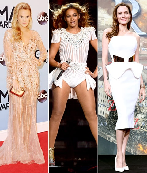 Carrie Underwood, Beyonce and Angelina Jolie