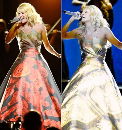 carrie underwood LED dress