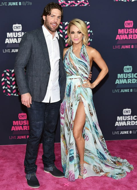 Mike Fisher and Carrie Underwood CMTs