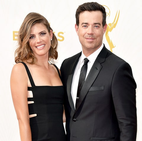 Siri Pinter and Carson Daly attend the 67th Annual Primetime Emmy Awards at Microsoft Theater on September 20.
