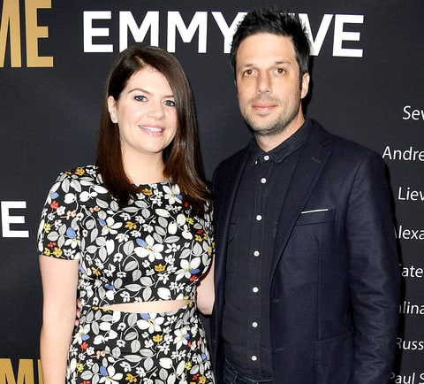 Casey Wilson and husband David Caspe attend the Showtime Emmy eve party at Sunset Tower on Sept. 17, 2016, in West Hollywood.