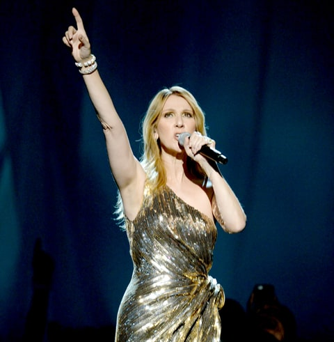 Celine Dion performs onstage during the 2016 Billboard Music Awards.