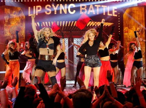 Channing Tatum and Beyonce on Lip Sync Battle