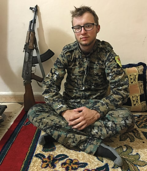 Chapman, an American, arrived in Syria on his 21st birthday.