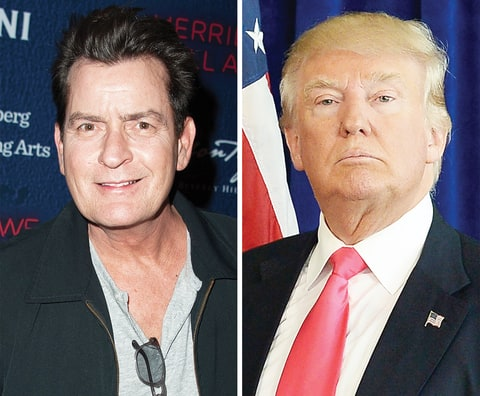 Charlie Sheen and Donald Trump