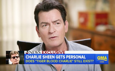Charlie Sheen Good Morning America