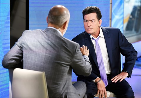 Charlie Sheen on the Today show