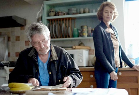 Tom Courtenay as Geoff and Charlotte Rampling as Kate in Andrew Haigh's film 45 Years.