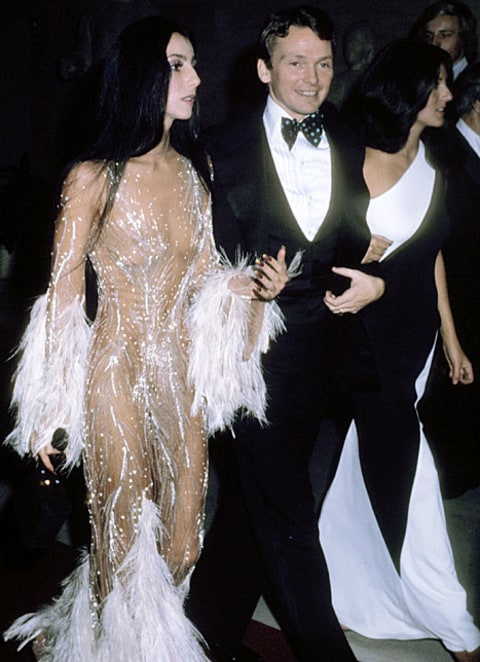 cher and bob mackie 1974