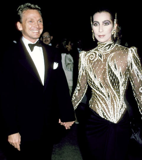 cher and bob mackie 1985