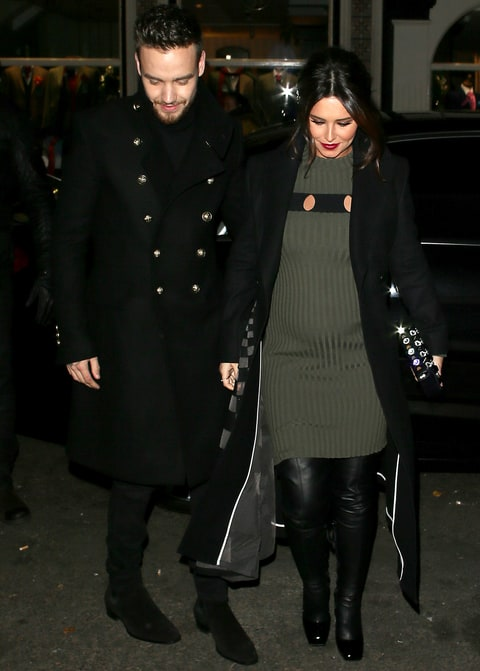 Liam payne and cheryl cole arrive at the fayre of st james s church on
