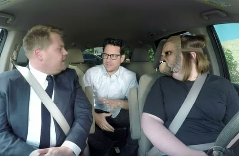 Chewbacca Mom, JJ Abrams and James Corden