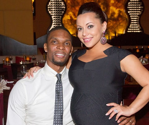 Chris Bosh and his wife, Adrienne