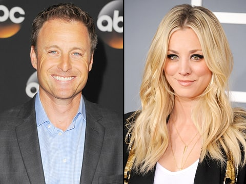 Chris Harrison and Kaley Cuoco