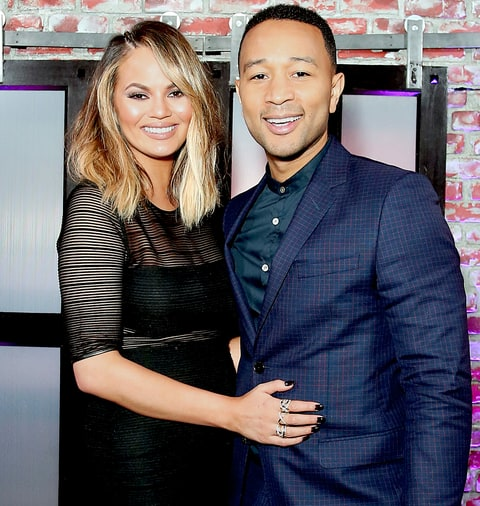 Chrissy Teigen and John Legend attend the Spike TV's 'Lip Sync Battle' at Saban Media Center on June 14, 2016.
