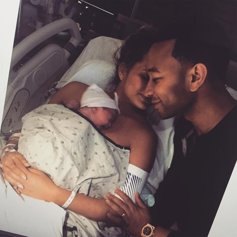 Luna Legend, Chrissy Teigen and John Legend