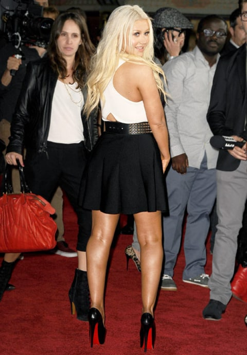 christina aguilera back view