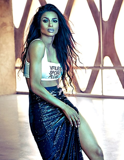 Ciara - Shape magazine (skirt with bra)