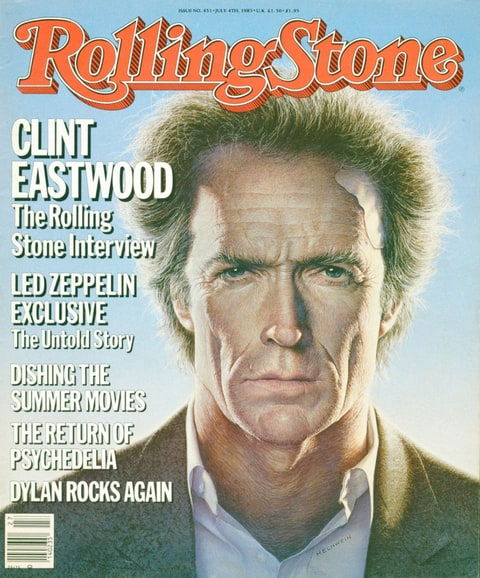 Clint Eastwood on the cover of Rolling Stone.