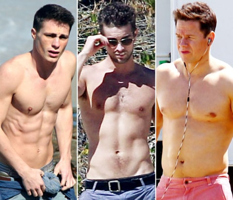 colton haynes, chace crawford, mark wahlberg