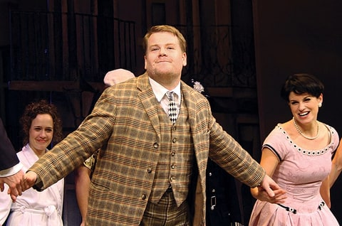 Corden in 'One Man, Two Guvnors' on Broadway.