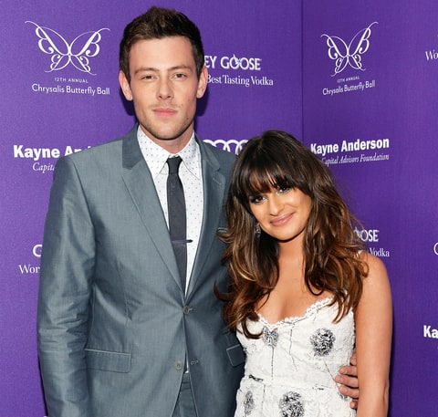 Cory Monteith and Lea Michele at an event in 2013.