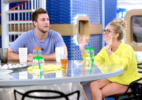 Corey Brooks and Nicole Franzel on Big Brother.