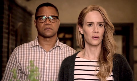 Cuba Gooding Jr. and Sarah Paulson in American Horror Story: My Roanoke Nightmare