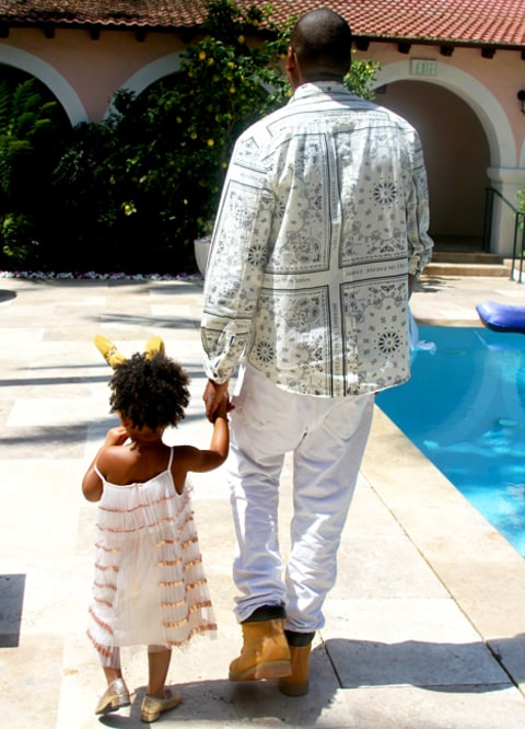 Jay Z and Blue Ivy Easter