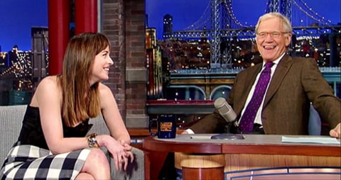 Dakota Johnson and David Letterman