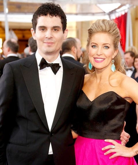 Damien Chazelle and Jasmine McGlade attend the 87th Annual Academy Awards at Hollywood & Highland Center on Feb. 22, 2015, in Hollywood.
