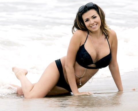 Porn star Danica Dillon, who claims Josh Duggar cheated with her, hits the beach in Malibu.