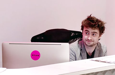 daniel radcliffe working at nylon
