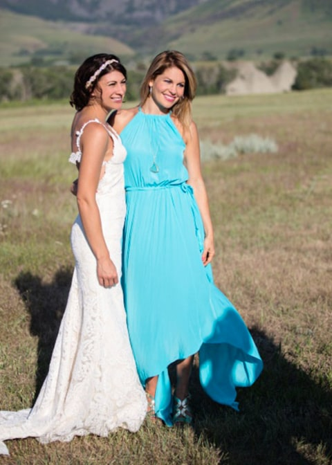 David Coulier wedding - Candace and bride