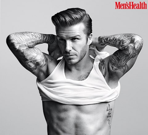 david beckham men's health
