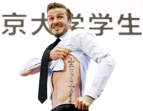 David Beckham's new tattoo
