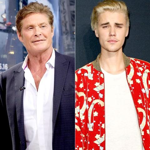 David Hasselhoff and Justin Bieber