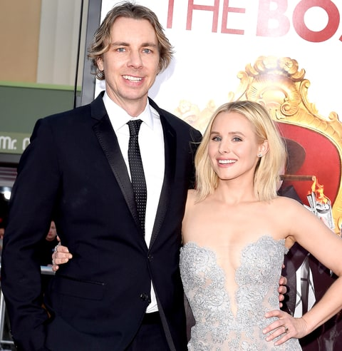Dax Shepard and Kristen Bell arrive at the premiere of USA Pictures' 'The Boss' at Regency Village Theatre on March 28, 2016 in Westwood, California.
